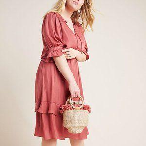 Rosa Ruffle Plus Dress- Anthropologie